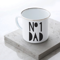 No 1 Dad Enamel Mug