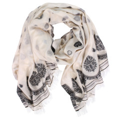 Fable Silk Cotton Jacquard Weave Scarf (various colours)