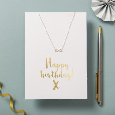 Happy Birthday Card And Necklace Set