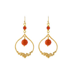 Orange Seville earrings