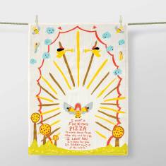 I want a f*cking pizza - Tea Towel by Blue Q