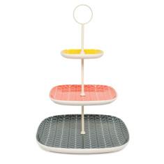 Orla Kiely linear stem 3-tier cake stand