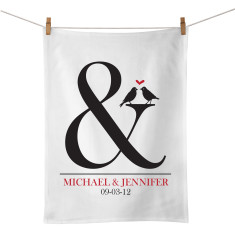 Ampersand personalised tea towel