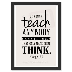Personalised teacher thank you Socrates quote print