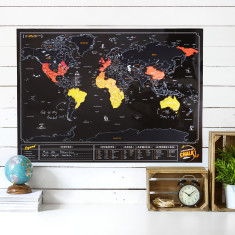 Chalk Scratch Map