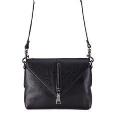 Exile leather bag in black
