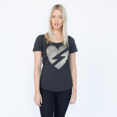 Love Struck Charcoal Cotton Tee