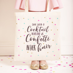 Cocktails And Confetti Tote Bag