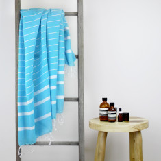 Bondi Turkish Towel in Bright Blue