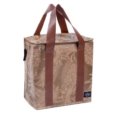 Insulated picnic bag in our lieu pineapple gold print