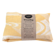 Lavender or clove scented wheat bag in yellow