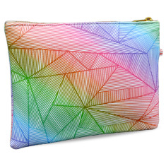 Neon Billy Rays Vegan Leather Pouch Clutch Bag