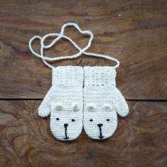 Children's animal character mittens