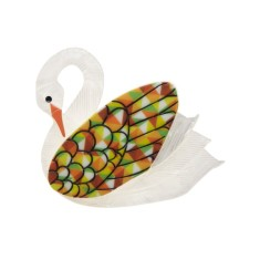 Erstwilder Sabine the swan brooch