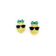 A small world pineapple stud earrings