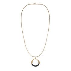 Riviera ebony and gold pendant