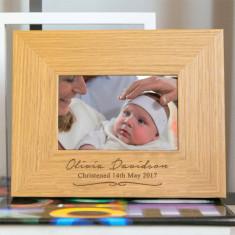 Personalised Christening Frame
