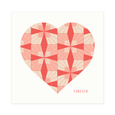 Forever retro flower greeting card