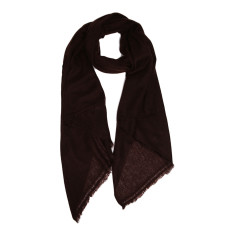 Moye cashmere stole in dark chocolate