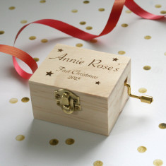 Personalised Christmas Music Box