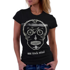 One track mind women's t-shirt