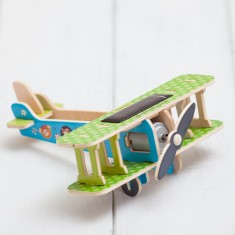 Build Your Own 3D Solar Powered Bi Plane Toy