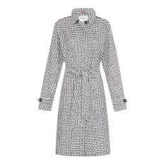 Women's packable raincoat in dalmatian spot