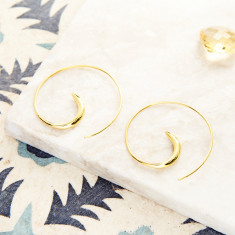 Mia Hoops In Gold Plate