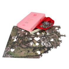 We First Met Here - Personalised Aerial Puzzle