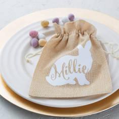 Personalised Easter Jute Bag