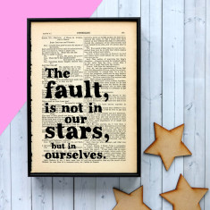 The fault in our stars quote print