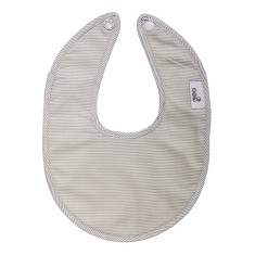 Dribble bib in Summer Rain Grey