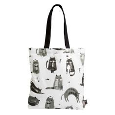Feline Fine Cotton Tote Bag