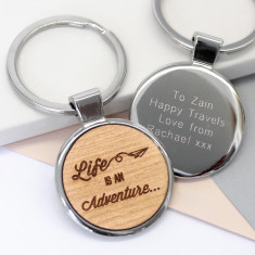 Personalised Adventure Key Ring