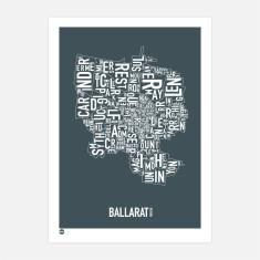 Ballarat print stormy grey