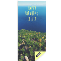 Personalised cliff top yoga mat