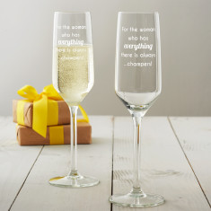 For The Woman Who Has Everything Champagne Flute