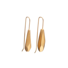 Geometric drop pendant earrings