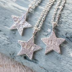 Run Silver Star Necklace