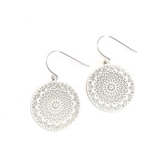 Dreamcatcher earrings in silver