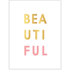 Gold Beautiful art print