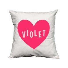Love heart personalised cushion cover (various neon colours)