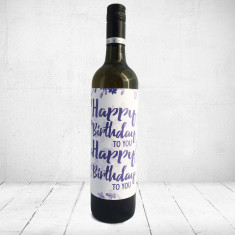 Happy Birthday to you Happy Birthday to you - Large Greeting card for wine