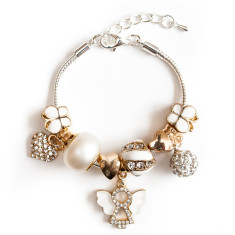 Gold angel charm bracelet