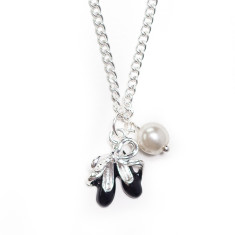 Childrens' elegant ballerina necklace