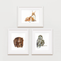 Woodland animals prints A3 (3 for 2)