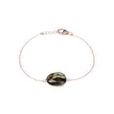 Central Pebble Stone Bracelet With Labradorite