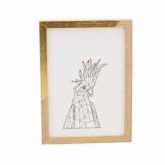 Geometric cockatoo framed print