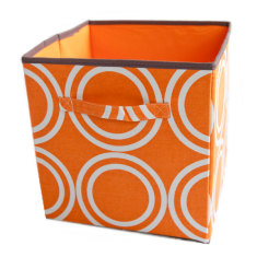 Orange circles storage boxes