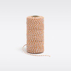 Orange & white cotton bakers twine